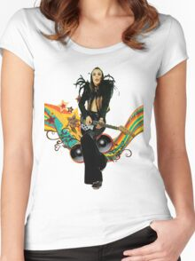 Brian Eno Roxy Music T-Shirt Women's Fitted Scoop T-Shirt