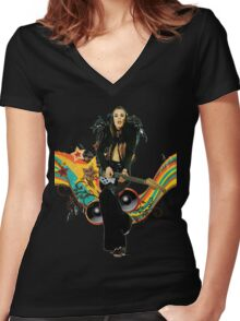 Brian Eno Roxy Music T-Shirt Women's Fitted V-Neck T-Shirt