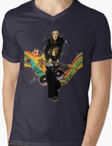 Brian Eno Roxy Music T-Shirt Mens V-Neck T-Shirt