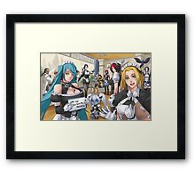 Sona and Lux Maid Fan art Framed Print