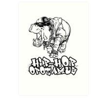 Hip Hop Opotamus Art Print