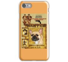 French Bulldog Art - Butch Cassidy and the Sundance Kid Movie Poster iPhone Case/Skin
