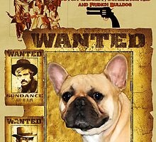 French Bulldog Art - Butch Cassidy and the Sundance Kid Movie Poster by NobilityDogs