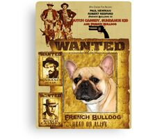 French Bulldog Art - Butch Cassidy and the Sundance Kid Movie Poster Canvas Print