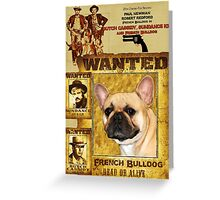 French Bulldog Art - Butch Cassidy and the Sundance Kid Movie Poster Greeting Card