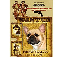 French Bulldog Art - Butch Cassidy and the Sundance Kid Movie Poster Photographic Print
