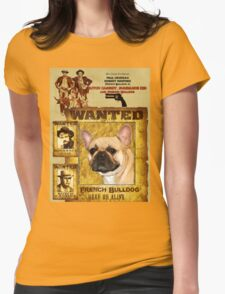 French Bulldog Art - Butch Cassidy and the Sundance Kid Movie Poster Womens Fitted T-Shirt