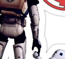 Troop in training  Sticker