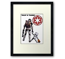 Troop in training  Framed Print