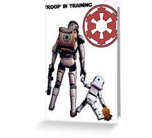 Troop in training  Greeting Card