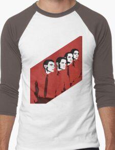 Kraftwerk Man Machine T-Shirt Men's Baseball ¾ T-Shirt
