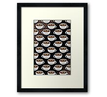 Coffee Cups and Stripes Framed Print