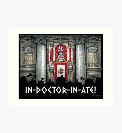 Dalek Pope XVII Art Print