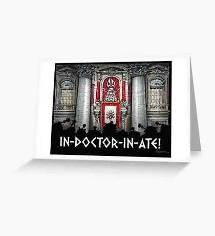 Dalek Pope XVII Greeting Card