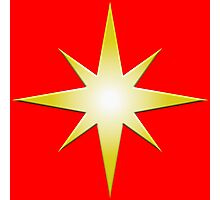 Captain Marvel Cosmic Star Photographic Print
