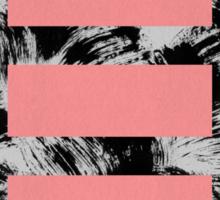 blocks on brush strokes #1 Sticker