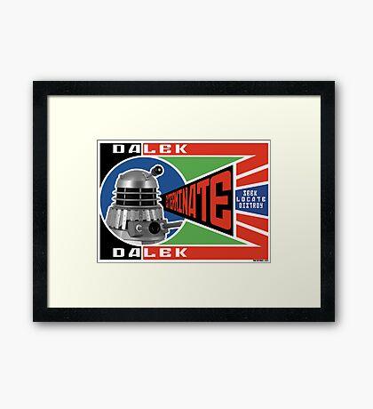 Dalek Deconstructivism Framed Print