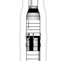 The Apollo Mission's Saturn V Rocket Sticker