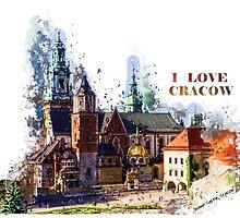 I love Cracow Wawel Castel by JBJart