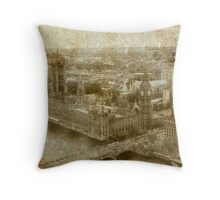 Faded Memories-London Throw Pillow