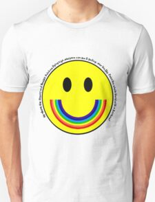 Rainbow Smiley Face Unisex T-Shirt