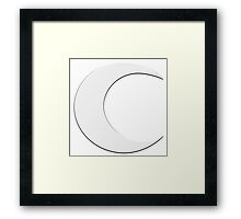 Crescent Moon Framed Print