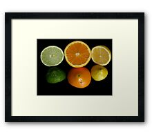 Tops and Bottoms Framed Print