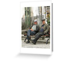 Old Friends --- A Disapproving Glance Greeting Card