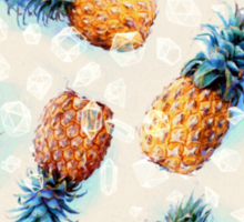Pineapples + Crystals Sticker