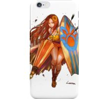 Leona fan art pool party iPhone Case/Skin