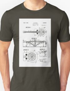 Resonator/Dobro Guitar Patent Drawing Design Unisex T-Shirt