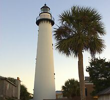 St Simons Island Light - St Simons Island, GA by Howard Simpson