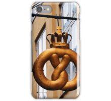 Crowned Pretzel Sign in Copenhagen, Denmark iPhone Case/Skin