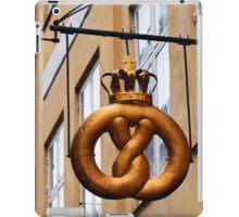 Crowned Pretzel Sign in Copenhagen, Denmark iPad Case/Skin