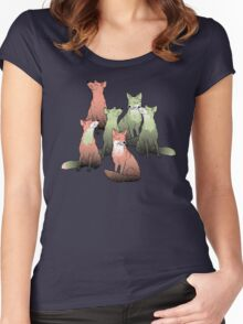 Sleeping foxes Women's Fitted Scoop T-Shirt