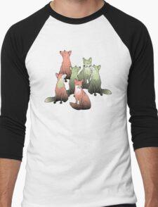 Sleeping foxes Men's Baseball ¾ T-Shirt