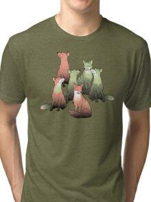 Sleeping foxes Tri-blend T-Shirt