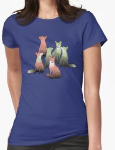 Sleeping foxes Womens Fitted T-Shirt