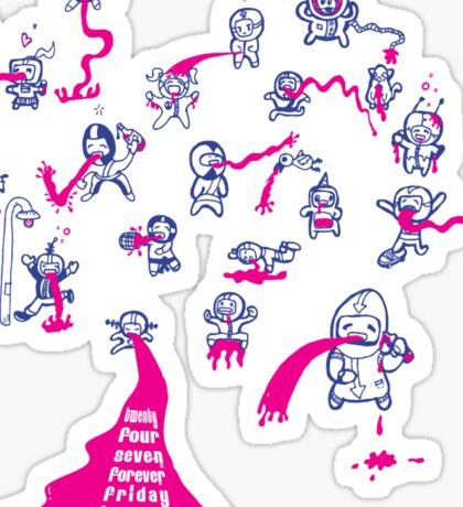 24 Seven Forever Friday Heaven Sticker
