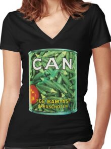 Can Ege Bamyasi T-Shirt Women's Fitted V-Neck T-Shirt