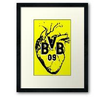 Borussia Heart Framed Print