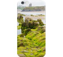 ballybunion castle algae covered rocks view iPhone Case/Skin