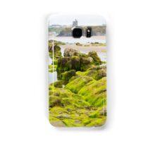 ballybunion castle algae covered rocks view Samsung Galaxy Case/Skin