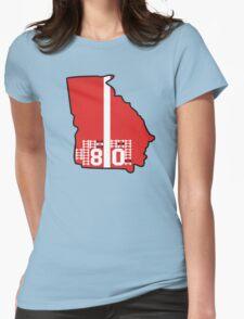 Georgia Dawg Bones Womens Fitted T-Shirt