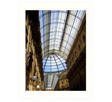 Milan - Galleria Vittorio Emanuele II - interior Art Print