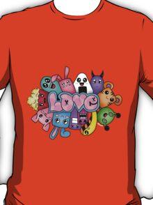 Doodle love - Colors /Black Background T-Shirt