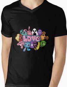 Doodle love - Colors /Black Background Mens V-Neck T-Shirt