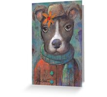 Pit Bull Style Greeting Card