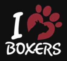 I Love Boxers - T-Shirts & Hoodies by anjaneyaarts