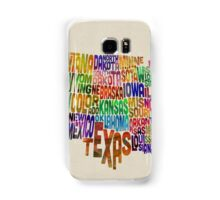 United States Typography Text Map Samsung Galaxy Case/Skin